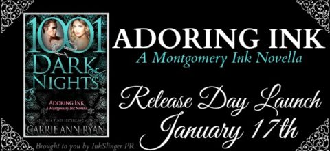 "Inediti in Italia: Release Day Launch: ""Adoring Ink"" di Carrie Ann Ryan * A Montgomery Ink Novella"