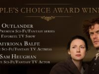 Le star di Outlander, Caitriona Balfe e Sam Heughan ringraziano i fan per la vittoria ai People's Choice Awards 2107